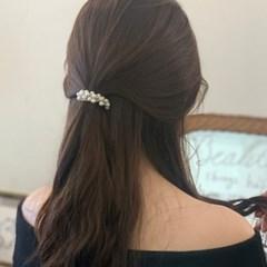 데일리 진주 송이 머리끈 헤어끈 (2 type)