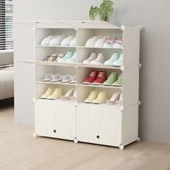 DIY 하우스룸 원목무늬 신발장(85x96cm)
