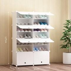DIY 화이트 도어형 신발장(85x127cm)
