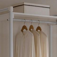 화이트 시스템 행거 2단옷봉 드레스룸CE316_(769257)