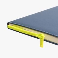 책이랑 형광노란색 지퍼 디자인 책갈피 북마크