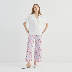 PANSY FLOWER WIDE PANTS (2COLORS)