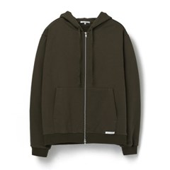 [에이카 화이트]FINEST COTTON ZIP UP HOODIE-OLIVE