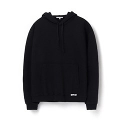 [에이카 화이트]FINEST COTTON PULLOVER HOODIE-BLACK