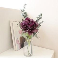 풍성한 한송이 작약 인테리어 조화꽃가지장식 (2color)