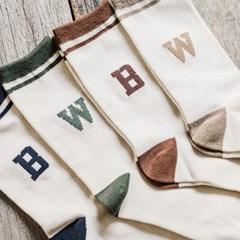 WB TENNIS SOCKS SET (beige/brown/khaki/navy)