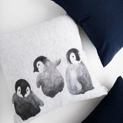 누키트 코지린넨 쿠션 네이비 (50x50)