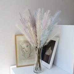 파스텔 미니 팜파스 깃털 인테리어 조화가지(5color)