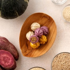 [국내산 유기농 쌀로 만든] 삼색꿀떡 80g 5봉