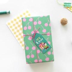 핑크체리 포장지(3개)