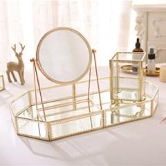 앤틱 골드프레임 화장대거울 책상 테이블 탁상 거울 2type