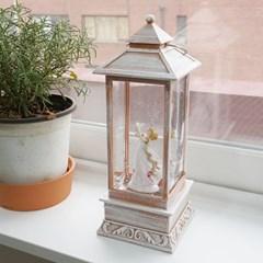 비둘기천사 LED 랜턴 워터볼 오르골 (핑크)