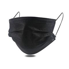 국내발송 일회용 부직포 3중필터 마스크 블랙 1박스 50매