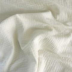 [Fabric] 피그먼트 바이오워싱 거즈 3중지 크림 아이보리