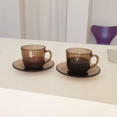 듀라렉스 블랙 홈카페 커피잔