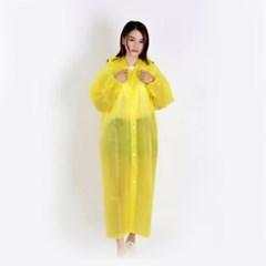 레이니 남녀공용 손목밴딩 우비(옐로우)