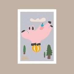 서커스 돼지