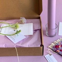 pompom candle set (2colors)