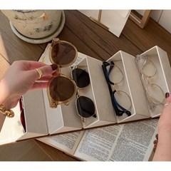 브라운 세트구성 오각 안경 케이스 선글라스 보관함 정리함