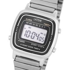 뉴트로 파스텔 디지털 시계_실버블랙(AG2G0601DASB)