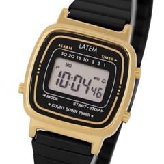 뉴트로 파스텔 디지털 시계_골드블랙(AG2G0601DAYB)