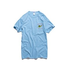 [BIGWAVE COLLECTIVE] SLOW N STEADY TEE (PACIFIC BLUE)