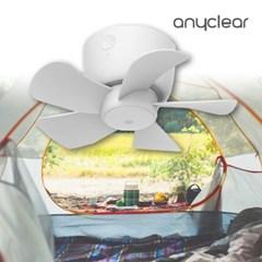 애니클리어 무선 미니 USB 타프팬 천장용 캠핑용 선풍기 PDB-WMT