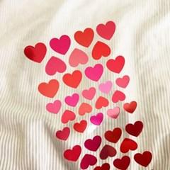 [스튜디오 퐁듀] HEART&LOVE 하트(은광) 씰스티커
