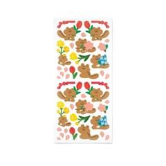 [스튜디오 퐁듀] flower chipmunk 꽃다람 씰스티커