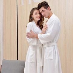 호텔식 순면감촉 남성 여성 여름용 샤워가운