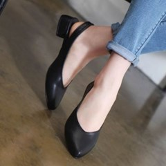 kami et muse Minimal style low heel sling back_KM20s130