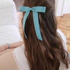 romantic ribbon hair pin (MINT SKY)