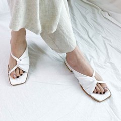 kami et muse Shirring middle heel slippers_KM20s137