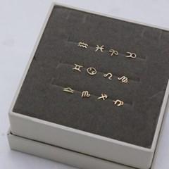 14K 럭키 트위스트 별자리 귀걸이 & 피어싱 [한쪽]