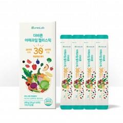 더바른 야채과일 젤리스틱 30 1박스(20g x 10팩)