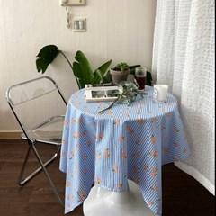 온더플라워씨리얼 블루 식탁보 테이블보 2size 테이블러너