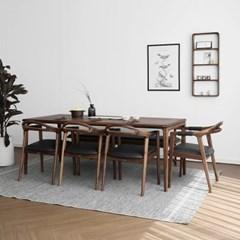 [헤리티지월넛] L형 식탁/테이블 세트_(1519409)