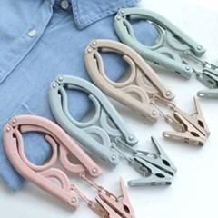 접이식옷걸이 빨래집게 탈부착가능 접이식 다용도옷걸이 4개 1set