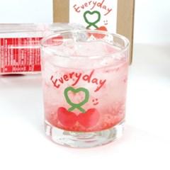 하트체리 언더락잔