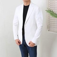 하객룩 여름 남성 여름 루즈핏 린넨 블레이져 화이트 흰색 정장 자켓