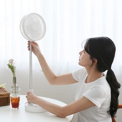 스쿱 무선 폴딩팬 (4단계 풍량조절 / 접이식, 충전가능 선풍기)