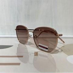 블랙 브라운 컬러 가벼운 메탈 사각 선글라스 안경테
