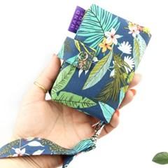 정글 카드지갑 동전지갑 / 커스텀자수 이니셜 이름자수 핸드메이드