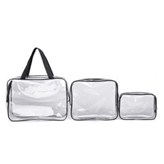 여행용 투명 비치파우치 캠핑 휴대용 간편 백 가방