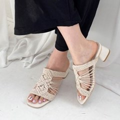 kami et muse Knite middle heel mule slippers_KM20s141