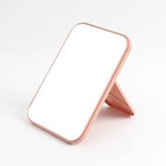 무지 사각 탁상거울(핑크)