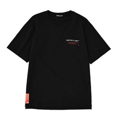 올 레터링 티셔츠 BLACK