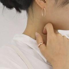 [92.5실버 링 귀걸이] 이너프링 이어링