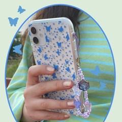 [뮤즈무드] my blue flower (clear) 아이폰케이스