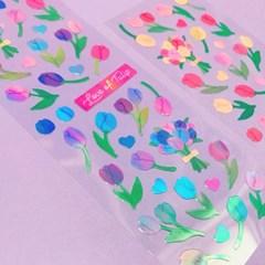 영롱한 Love of Tulip - Purple 칼선 스티커